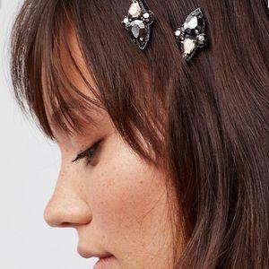 NWT Free People Hair Jewels Crystal Gems